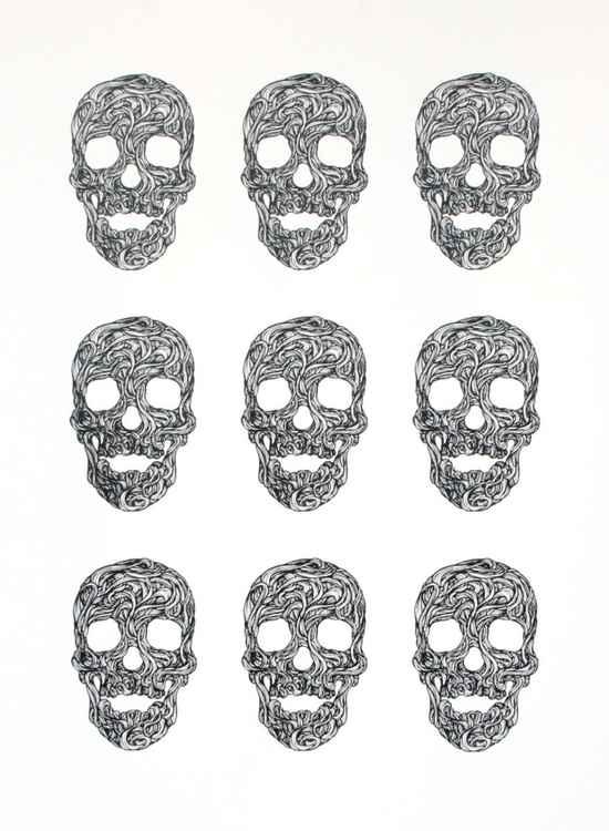 Swirly Skulls -