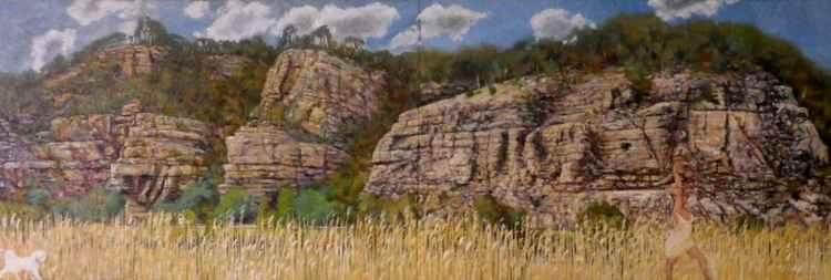 Rock wall, Derwent River