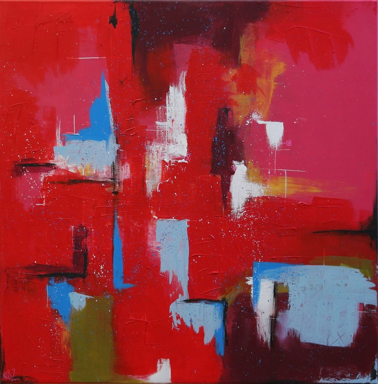 Red electronica for lovers (16-6) - Ready to hang artwork - - Image 0