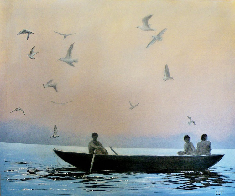Three Men In A Boat - Image 0