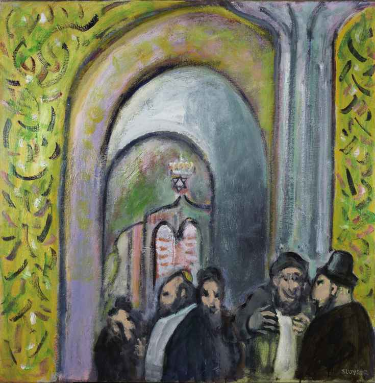 Discussions in the synagogue    (Cat N° 4537)