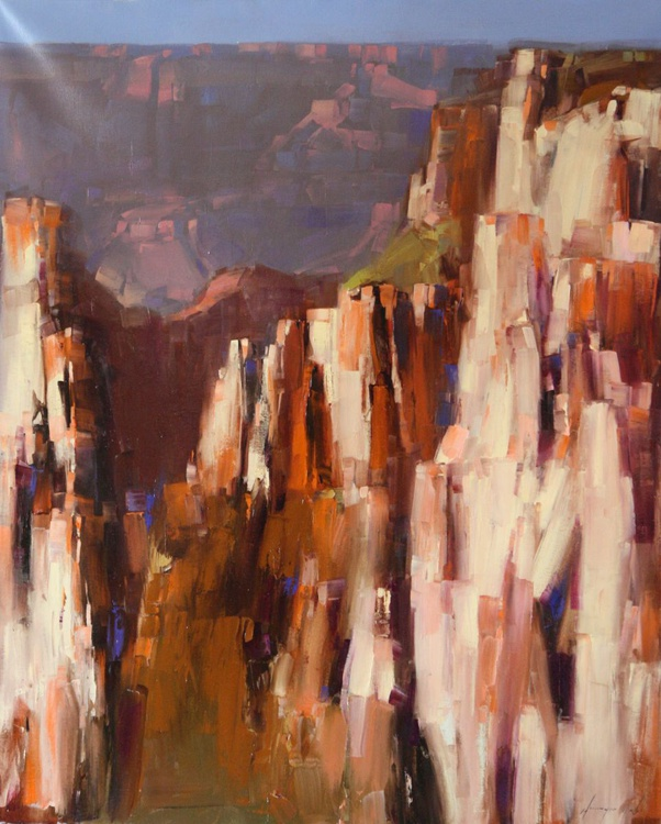Grand Canyon Contemporary Original oil painting on Canvas Large Size - Image 0