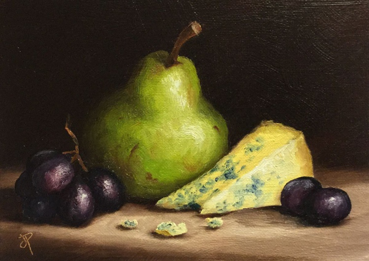 Pear with Cheese and grapes - Image 0