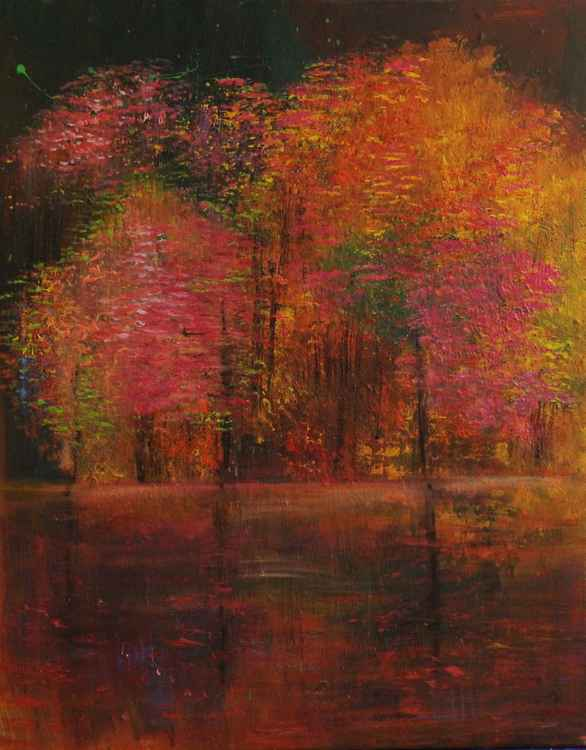 AUTUMN BY THE LAKE (DIGITAL ARTS PRINT)