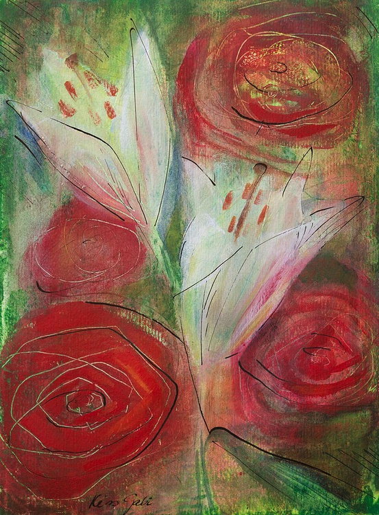 Roses and lilies - Image 0