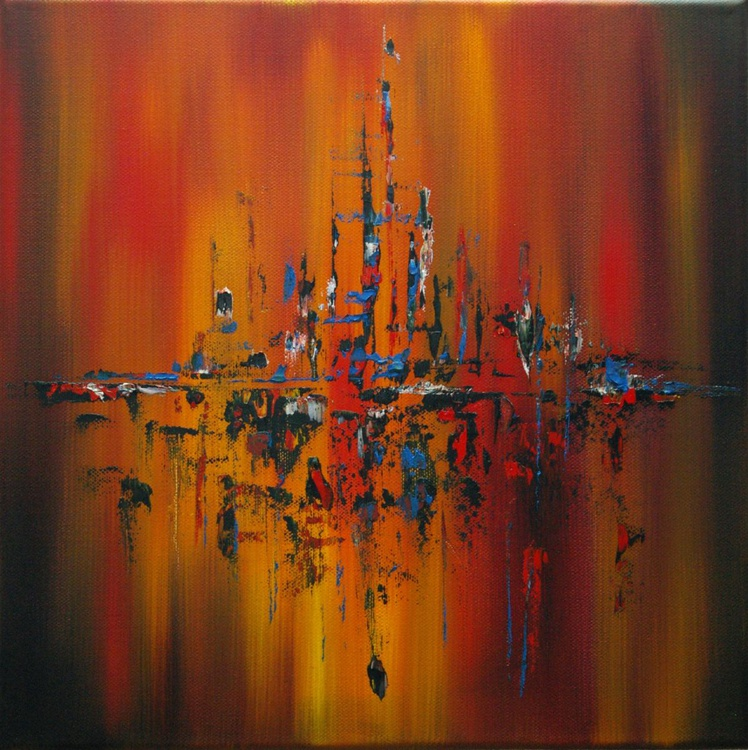 Forest Fire - Abstract oil Painting - Image 0