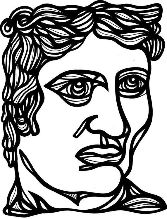 Distinguished Gentleman Roman Original Drawing - Image 0