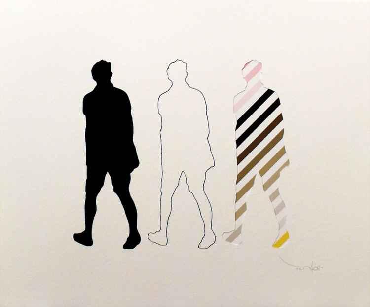 Three walking Men 05 -
