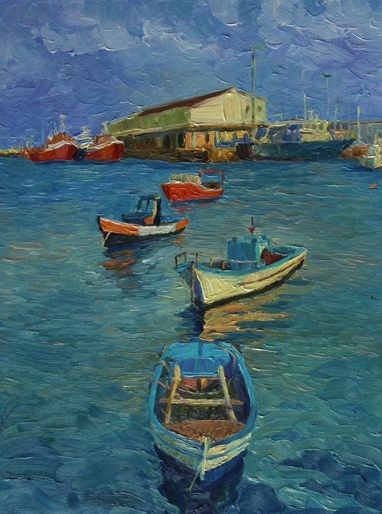 A Small Harbour in Portugal - Image 0