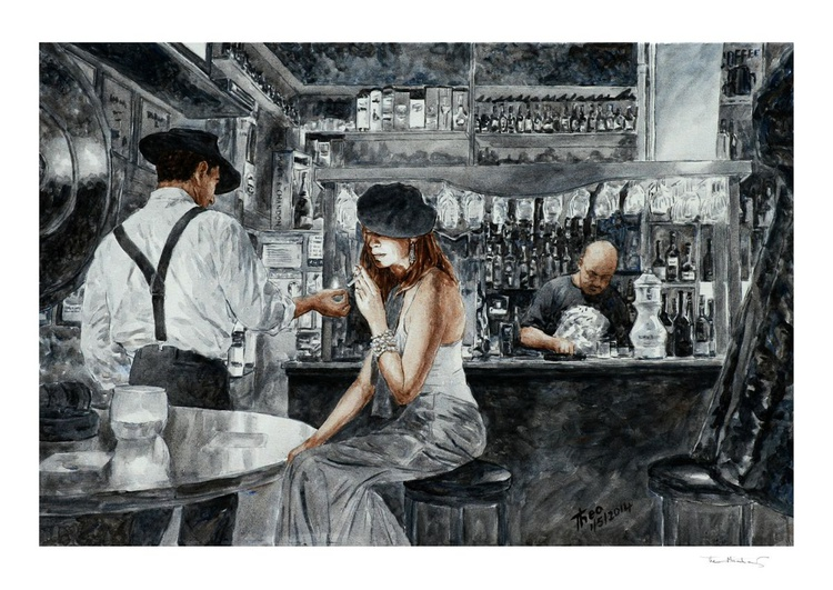 Nightlife, limited edition Giclee fine art print - Image 0