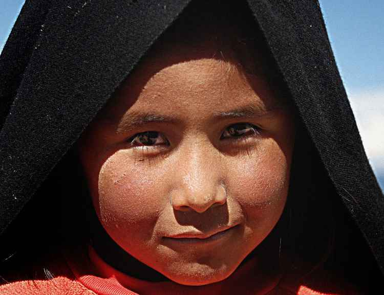 Titicaca Girl in Black -