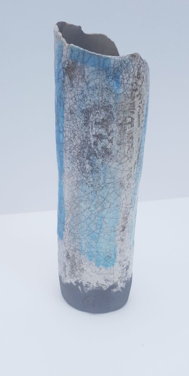 Blue and White Tube Vase - Image 0