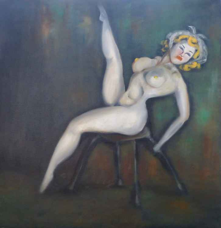 Dancer with red lips