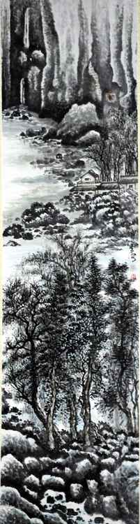 Chinese watercolour Landscape paining-23