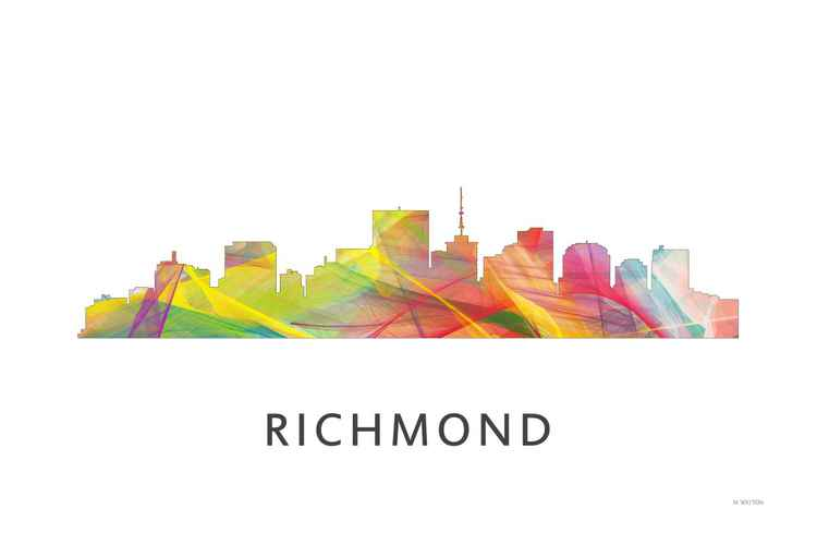 Richmond Virginia Skyline WB1 -