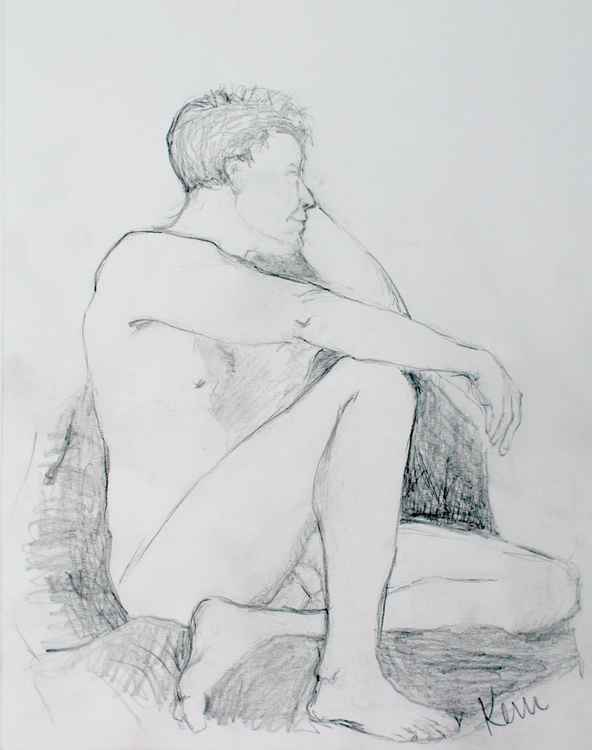 male Nude Figure Study -