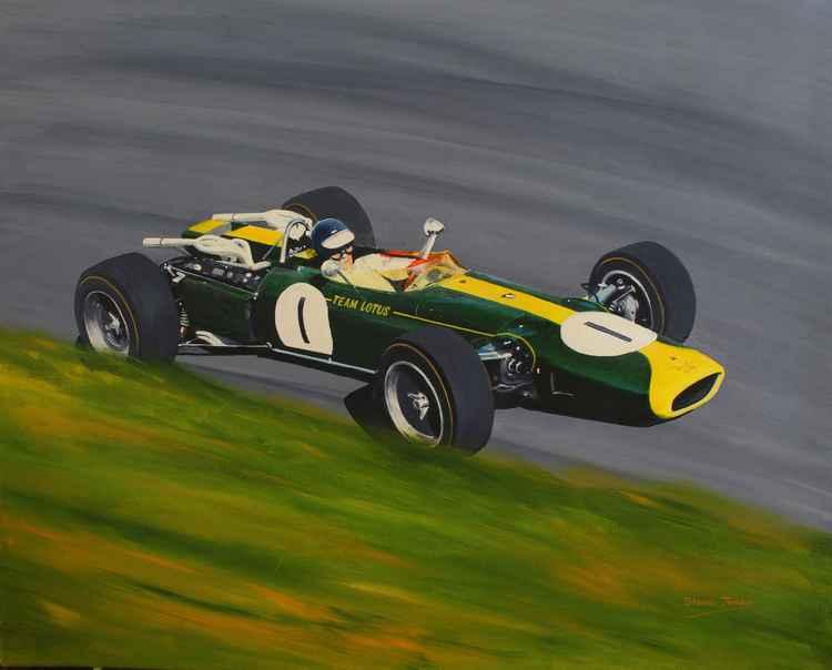 Jim Clark    Lotus 43 BRM   Oulton Park 1966