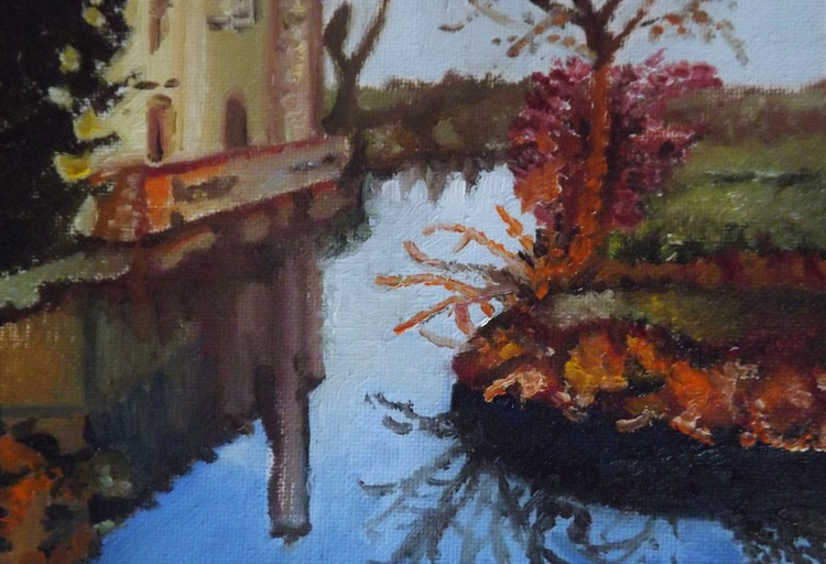 Autumnal Reflections (miniature, 7 x 5 inches) - Image 0
