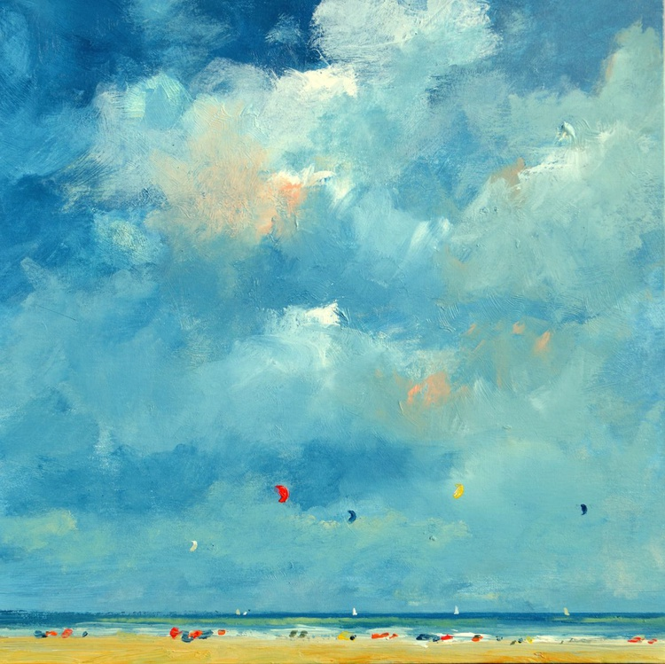 Sunny and cloudy day on the beach - Image 0