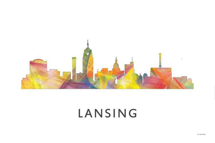 Lansing Michigan Skyline WB1 -