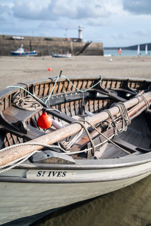Fishing boat in the harbour at St Ives in Cornwall England UK - Image 0