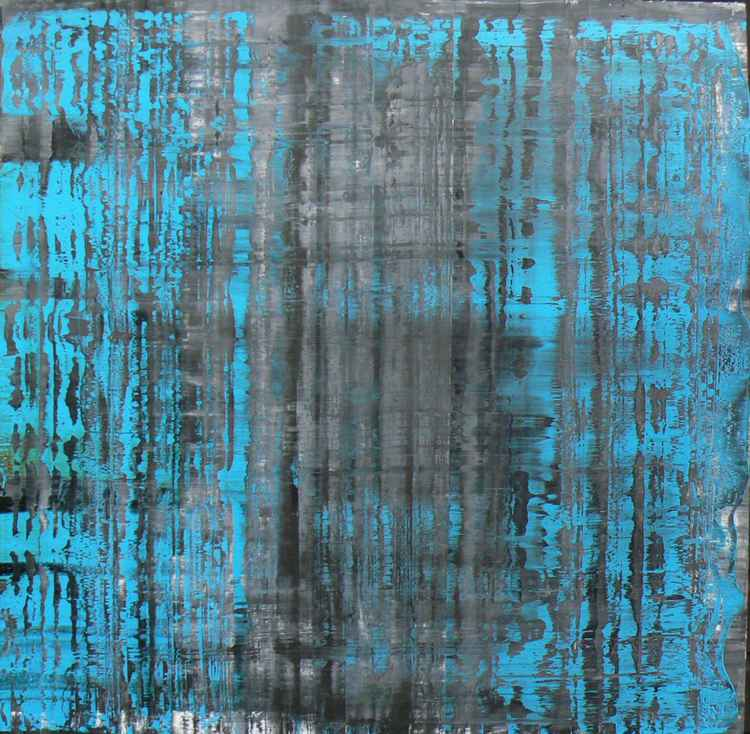 Richter Scale - Isabelle - blue over grey - Destroyed