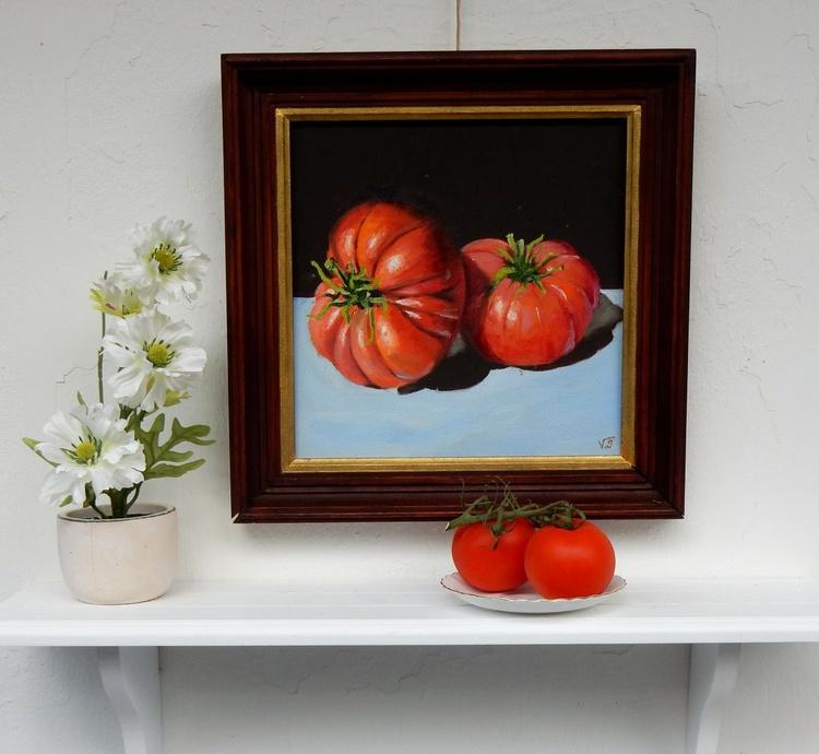 Ripe tomatoes. Still life, 25x25cm - Image 0