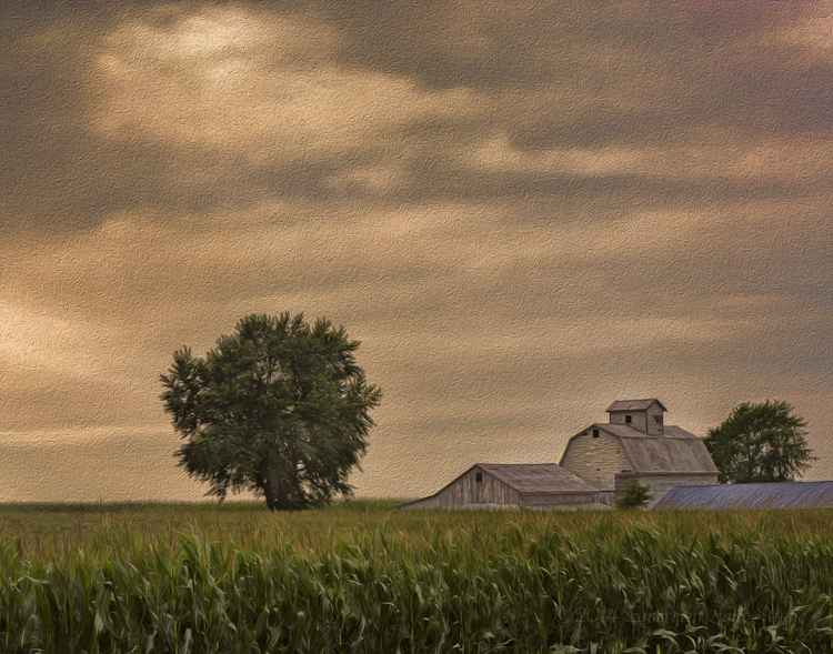 Farm on a Stormy Summer Afternoon