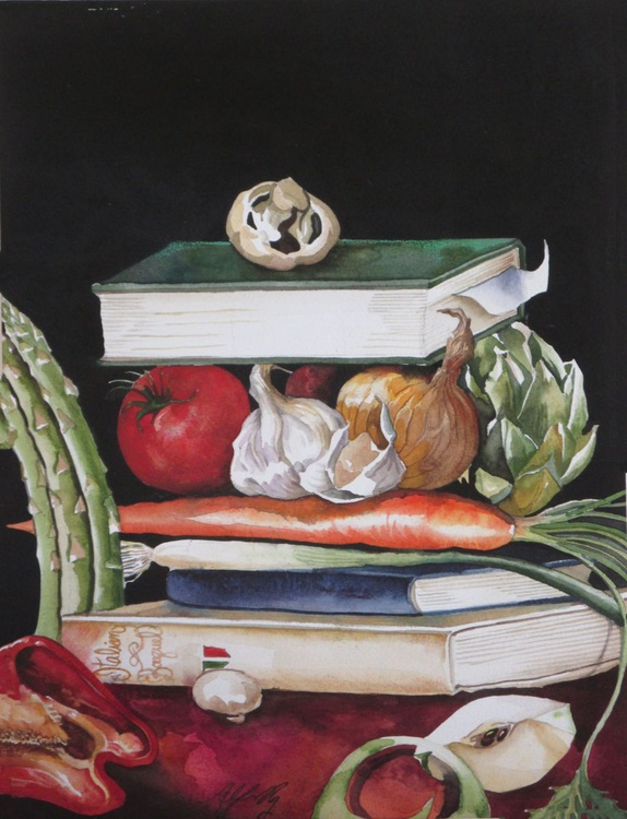 Still life with cook books - Image 0