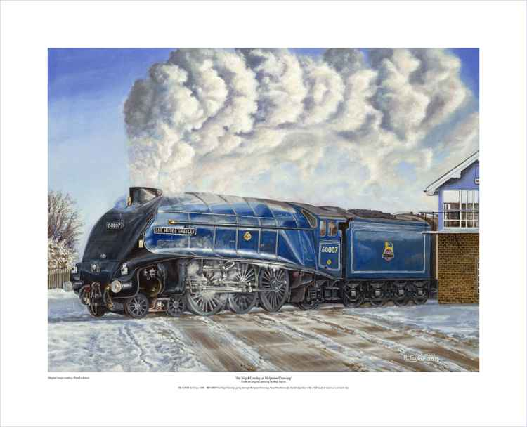 'Sir Nigel Gresley At Helpston Crossing' - Limited Edition