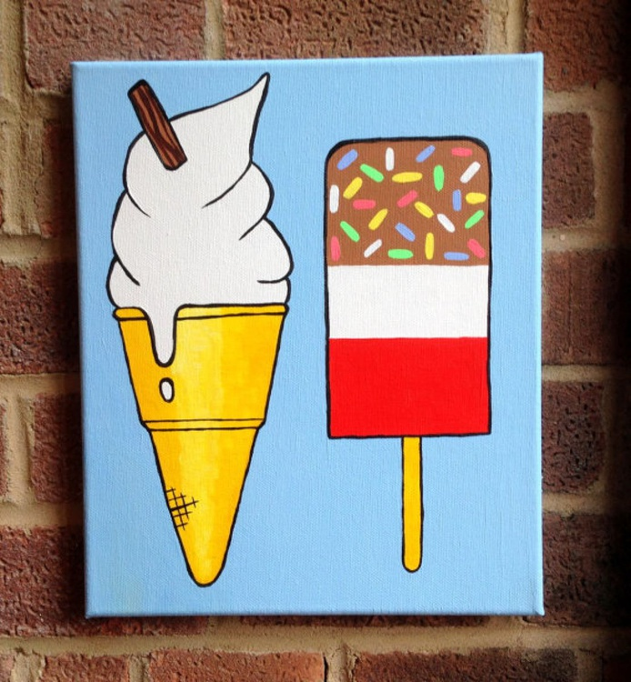 Fab Lolly And Mr Whippy Ice Cream Pop Art - Image 0