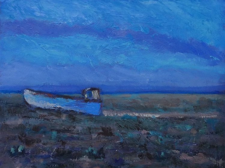 Rusty Blue Boat, Dungeness - Image 0