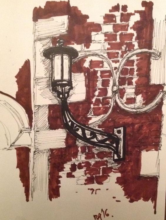 Cast Iron Lamp Post, St Johns College, Cambridge - Image 0