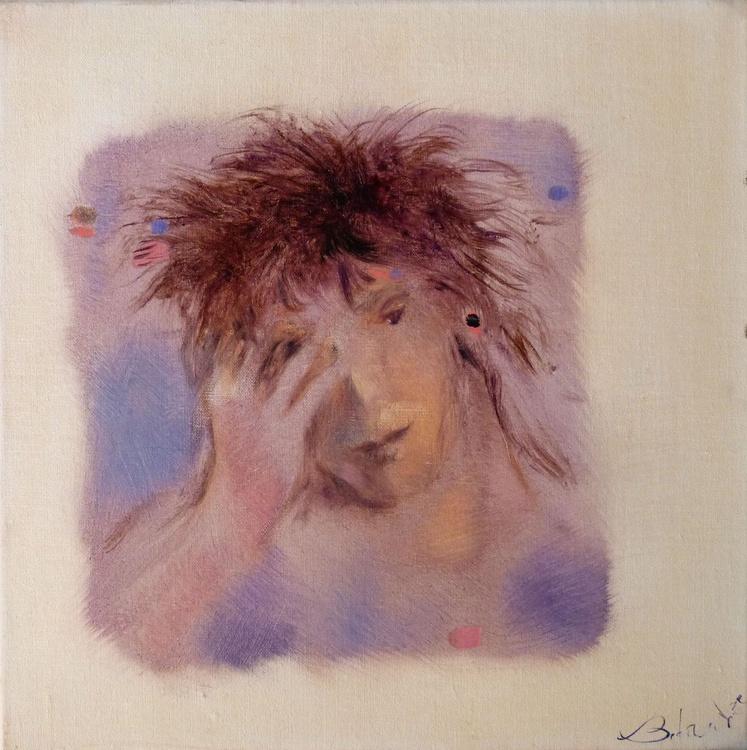 Emotional portrait 2, oil on canvas 40x40 cm - Image 0