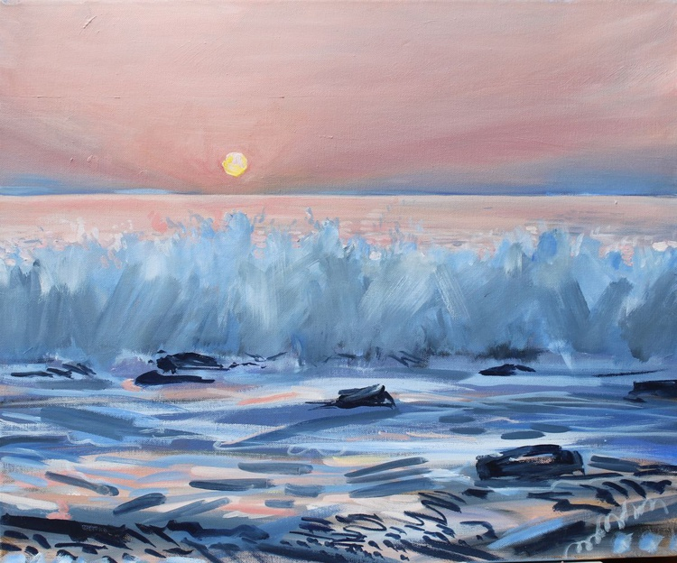 Crashing Waves (pink and blue) - Image 0