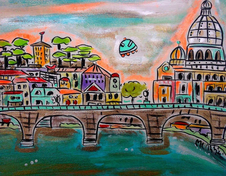 Ink World view of Rome - Image 0