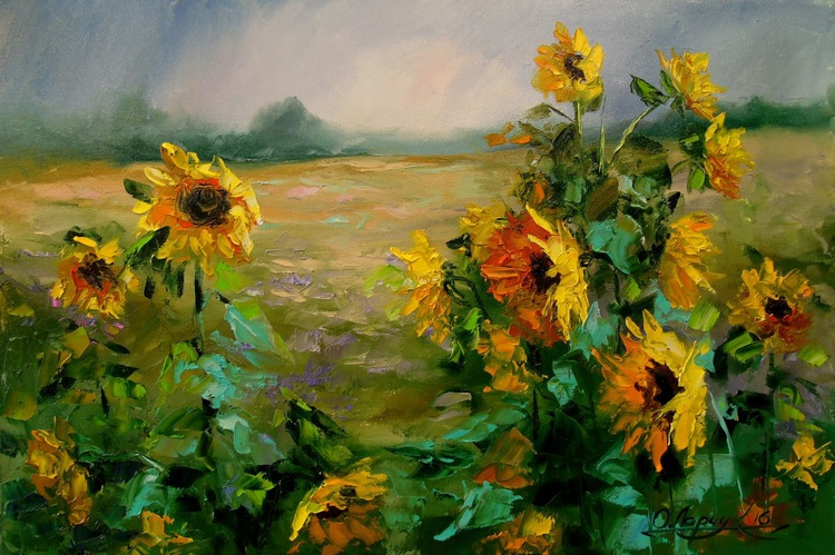 Sunflowers in the wind - Image 0