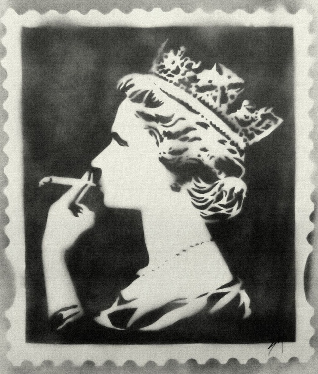 Spliff Queen Black (On Chunky Canvas) - Image 0