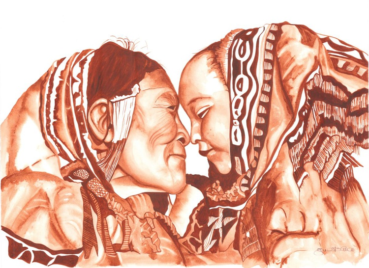 Inuit and Child - Image 0