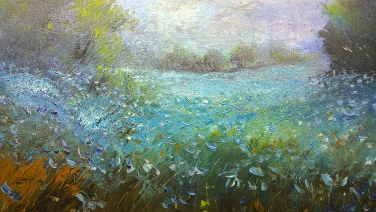 """""""BLUE FLAX AT LONG FIELD"""" - Image 0"""