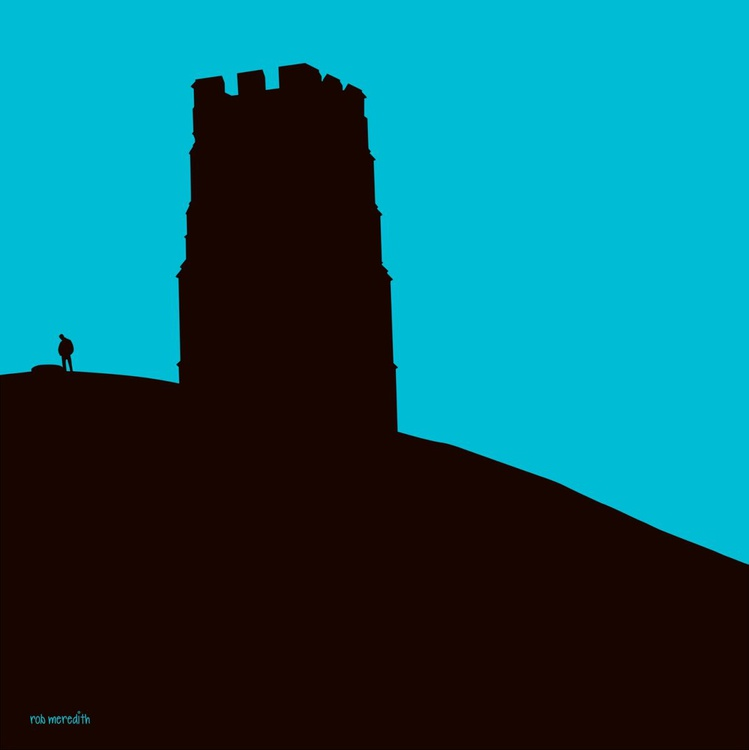 Glastonbury Tor - Teal sky - Image 0