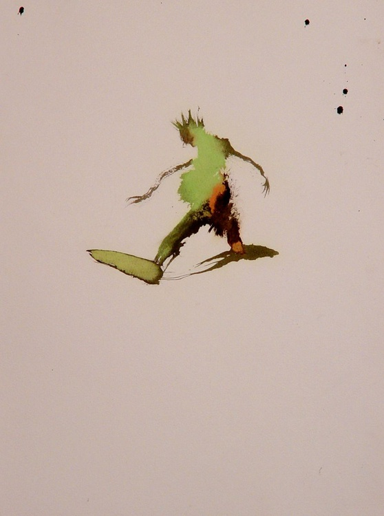Green man, 24x30 cm - Image 0