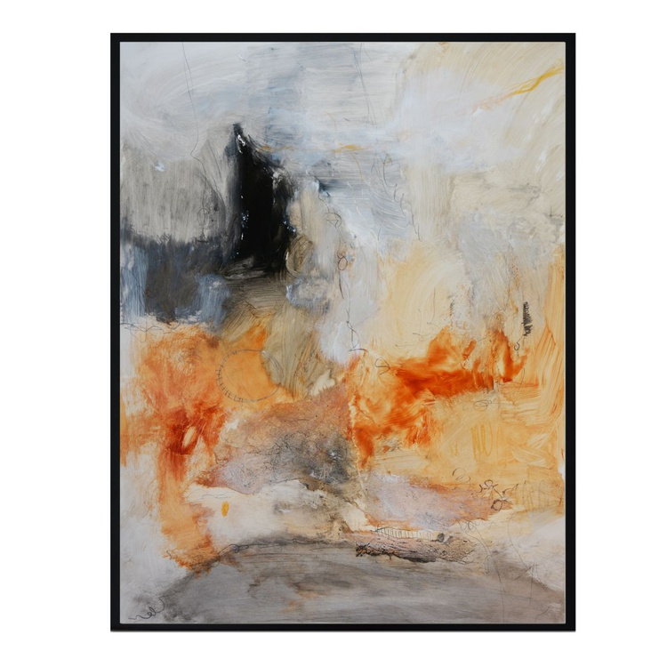 Abstract painting - Study on paper - Mixed media on yupo paper - Image 0