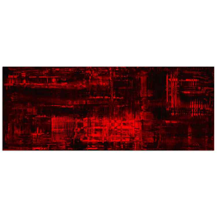 Aporia Red | Crimson Painting Giclée, Giclée on Metal