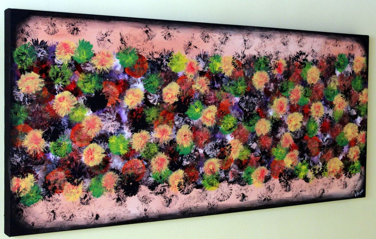 """Vintage Springs #10 - Large Original Abstract Painting, 53""""x 24"""" Vintage Home Decor - Image 0"""