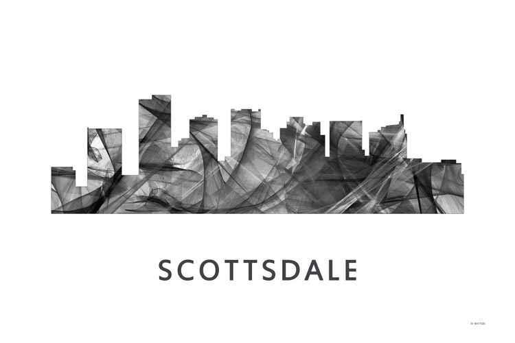 Scottsdale Arizona Skyline WB BW