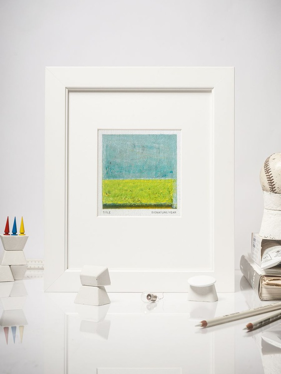 Peripheral Fields #03, Contemporary Mini Oil Painting, Mounted - Image 0