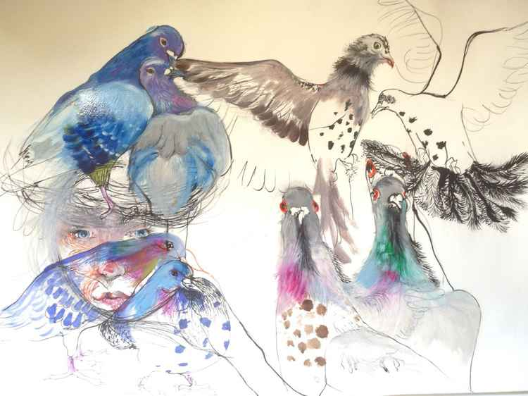 Pigeon invasion -