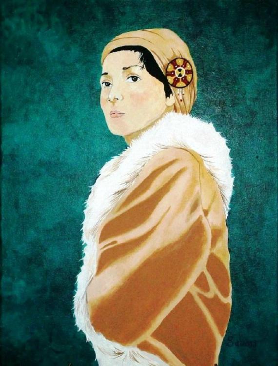 Woman in the Tan Coat - Image 0