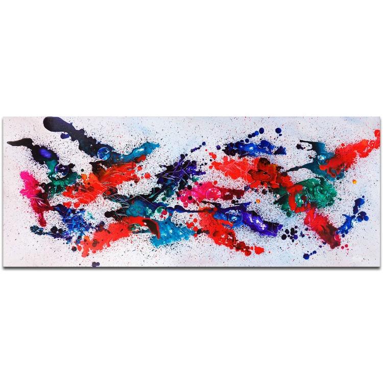 Mendo Vasilevski 'Moving Colors' Contemporary Metal Wall Art Giclee - Image 0